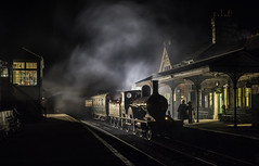 T3 LSWR No 563 (grahamhutton) Tags: lswr southernrailway swanagerailway t3 no563 williamadamst3 corfecastlestation corfecastle purbecks purbeck sony sonya7 minolta45mmmdf2 rokkor steam train timelineevents timelineevent nightshoot