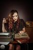 La journaliste - bureau-6 (ARI.Photographie) Tags: journalist newspaper agence model frenchphotographer frenchmodel france fronton work workinggirl working fatal woman beauty vintage
