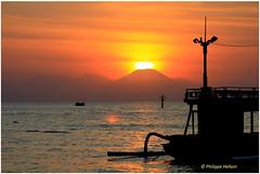 Sunset à Lovina © Bali (philippedaniele) Tags: bali lovina sunset volcans coucherdesoleil