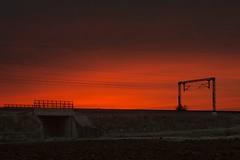alba in Valdichiana (giovanni tiezzi) Tags: sky railroad communications lines night ferrovia cielo comunicazioni linee notte valdichiana toscana