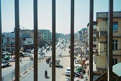 Lonerism (homesickATLien) Tags: 35mm film art kodak analog expired mjuiii olympus asia travel air backpacking backpacker movement motion outdoor motorbiking bago burmese burma myanmar city cityscape lonerism