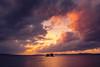 sunset 4304 (junjiaoyama) Tags: japan sunset sky light cloud weather landscape purple orange contrast color bright lake island water nature fall autumn
