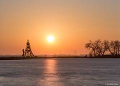 Sunset (✦ Erdinc Ulas Photography ✦) Tags: lenstagger nederland hoorn city netherlands dutch holland sun lake meer vuurtoren windmill windmolen boom grass gras yellow orange geel oranje minolta stone peaceful lighthouse