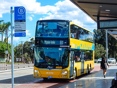 Sydney Buses - B-Line Northern Beaches - ST 2862 arrives at at Brookvale (Warringah Mall) after a run from the city (john cowper) Tags: buses bline northernbeaches warringahmall brookvale pittwaterroad sunday sunny suburb transportfornsw statetransit sydneybuses sydney newsouthwales