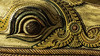 Detail of Nandi's Head (Thad Zajdowicz) Tags: zajdowicz hawaii usa travel availablelight honolulu leica lightroom nandi bull eye detail shiva india kerala wood sculpture statue color honolulumuseumofart indoor inside eyeball looking intricate museum art pattern macro closeup geometric