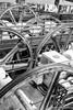 SF cable car wheels (takashi_matsumura) Tags: san francisco cable car museum wheels nob hill california ca usa bw black white nikon d5300 afs dx nikkor 35mm f18g