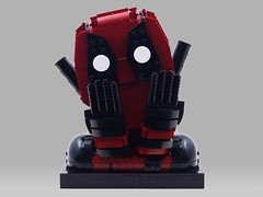 Deadpool (BrickinNick) Tags: lego deadpool bob ross build twitch creative character bust hands face cool story coolstory