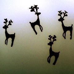 Reindeer silhouettes (Margarets Photos) Tags: margareta reindeer xmas christmas decoration craft glasspaint smileonsaturday xmasdeco