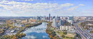 Aerial Austin Skyline  Pano