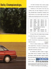 1993 BC Subaru Liberty 4 Door Sedan Page 2 Aussie Original Magazine Advertisement (Darren Marlow) Tags: 1993 b c bc s subaru l liberty car cool collectible collectors classic a automobile v vehicle j jap japan japanese asian asia 90s 1 3 9 19 93