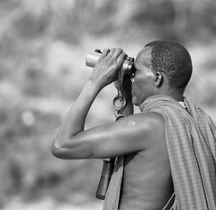 Nixon, our Masaï guide - South Rift Valley - Kenya (lotusblancphotography) Tags: africa afrique people gens portrait monochrome