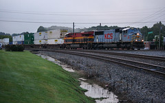 Gray Morning Mac (weshendrix) Tags: norfolk southern ns train railfan railroad railfanning railroading freight tracks rail intermodal austell georgia ga junction diesel engine locomotive vehicle emd sd70mac outdoor morning clouds weather cloudy gray mac