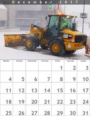 Dezember 2017 - Schneepflug - Cat  906 H2 (eagle1effi) Tags: fdsflickrtoys cc kalender calender almanach bonlanden schneepflug snow plow snowplough cat906h2 906h2 calendar calendario