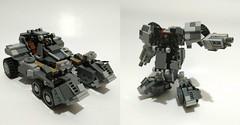 [Lego moc] Acid Rain World - Raptor Speeder MKII (c_s417) Tags: lego moc acid rain world raptor speeder mk ii mech mecha suit mobile robot buggy solider gun war brick build