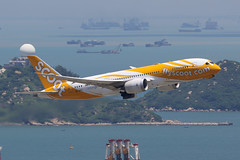9V-OFC Scoot 787-8 HKG (ColinParker777) Tags: 9vofc scoot tz boeing 788 787 7878 dreamliner singapore departure takeoff fly flying flight climb plane airplane aeroplane aviation airliner airlines airline airways international rolls royce trent hkg vhhh hong kong airport chek lap kok hills islands boat sea ocean sphere canon dslr photography photo camera 7d 7d2 7dmk2 7dii 7dmkii 200400 l pro lens zoom telephoto tr