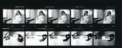 Lisa Philadelphia Studio Photo Shoot Kodak TMY 35mm B&W Contact Sheet Proof Print July 1995 IMG_0002 (photographer695) Tags: lisa philadelphia studio photo shoot kodak tmy 35mm bw contact sheet proof print july 1995