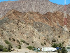 Close to cell tower (thomasgorman1) Tags: celltower tower mountains desert trailer dwelling baja canon mexico outdoors plants sky