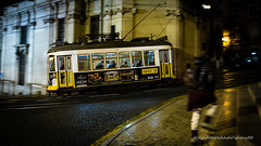 Night passengers - take 2 (ignacy50.pl) Tags: city citylife cityscape tram tramway transport transportation passengers night longexposure reportage urban urbanexploration outdoor lisbon portugal