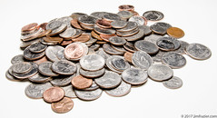 Drive-through cashier: That will be 18.96.   Me: 18.96? I think I got that....wait a sec. (Jim Frazier) Tags: q3 2017 elgin change clipart coins copper edgewater home il illinois interior january jimf metal presentation setup silver speedlight stilllife stobes studio tabletop