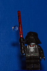 Dark Vador - The water control (Elisabeth Lys) Tags: lego starwars nikon d7200 droplet gouttes highspeedphotography hightspeedphoto macrophotography macro sigma 105mmf28 vador darkvador
