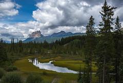 Rain clouds (Robert R Grove 2) Tags: clouds banff canada rain landscape alberta robertrgrove