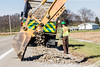 @20171121--D9 Maint-288 (OhioDOT) Tags: 9 district odot backhoe concrete culvert limestone pipe truck water workers