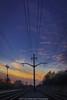 The Western Sky (jomak14) Tags: ohio wheremyrunningshoestakeme iphone6plus sunset shakerheights powerlines traintracks