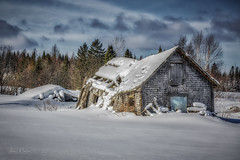 This old shack (morin.luce) Tags: old cabin farm farmland quebec canada winter