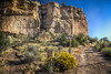 Can you dig it? (donnieking1811) Tags: utah escalante slotcanyoninn outdoors mountain rocks plants road gravel sign thedig earlymorning sky blue hdr canon 60d lightroom photomatixpro