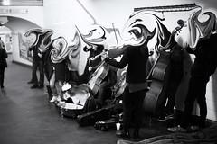 Subway Orchestra (Alex Szymanek) Tags: subway metro paris chatelet orchestre orchestra distortion people classical concert listen music