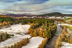 Cairngorms (Steve Samosa Photography) Tags: crathie scotland unitedkingdom gb winter snow cairngorms droneshot dronecamera