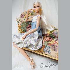 Vintage dress (RockWan FR) Tags: vintagedress erinsalston '24k' nuface fashionroyalty integritytoys fashiondoll dollfashion flower