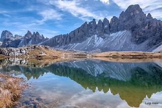 Dolomiti - il monte Paterno e il laghetto ai Piani