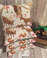 Balsam Fir Sachets (Foxy Belle) Tags: balsam fir tree sachet craft make diy simple sew fabric woodland
