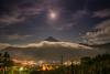 Noche Amatitlaneca (stuardoperez) Tags: landscape photographylandcape amanecer volcandeagua luna moon night dawn volcano guatemala amatitlán visitguatemala guatemaya guatemalan 502 18mm nikon nikond5300