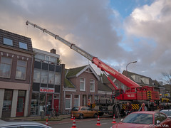 Big operation (✦ Erdinc Ulas Photography ✦) Tags: crane kraan auto weg operation alkmaar netherlands nederland dutch houses huis traffic verkeer fiets bicycle people mensen red rood