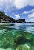Split shot at Three Tables Beach || Oahu (David Marriott - Sydney) Tags: haleiwa hawaii unitedstates us north shore three tables beach split over under ocean rock ikelite dome