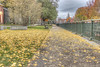 Autumn Path (macnetdaemon) Tags: path autumleaves autumn autumnal foilage park railing bush bench hdr canon 7d markii brick greatshot cement grass