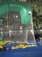 Pre - Parade Macys Balloon Blowout - Thanksgiving Eve 2017 NYC 3843 (Brechtbug) Tags: macys thanksgiving eve parade 2017 balloon blowup inflation joint nyc green sinclair oil dino brontosaurus mascot net near natural history museum central park west 11222017 balloons helium new character holiday york city christmas ornament blowing up inflating logo blowout blow out