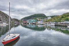 Serenity (gabi-h) Tags: quidividi harbour bay gabih newfoundlandandlabrador water calm boats brewery buildings reflections ripples serene summerday clouds sky sea historical docks wharf quay