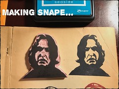 With the cooler weather, why not carve a man that was COLD to the core....Professor Snape. #rubberstamp #harrypotter #craft #art #make #handcarved (Brian Lapsley) Tags: rubberstamp harrypotter craft art make handcarved