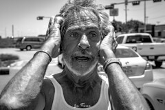 Hoyt-9175 (~La Force~) Tags: d7100 nikon street begging panhandler homeless wifebeater drunk crazy mental hopeless candid dallas dfw frustrated despair laughing smiling