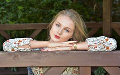 Grace and Beauty. (pstone646) Tags: youngwoman younglady beauty blueeyes blonde portrait people pretty outdoors