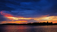 As Night transcends Day (Bob's Digital Eye) Tags: 2017 bobsdigitaleye canon clouds dusk efs24mmf28stm flicker flickr h2o laquintaessenza lake lakesunset lakesunsets lakescape silhouette sky sunset sunsetsoverwater t3i water