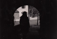 Stalking (dainaefsmith) Tags: stalking following invasive 35mm film camera black white portrait personal handwriting documenting life