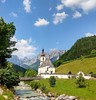 Ramsau bei Berchtesgaden, Bayern, Deutschland (Süßwassermatrose) Tags: 2017 ramsau berchtesgadenerland bayern deutschland bavaria oberbayern pfarrkirche stsebastian kirche churche postcard postkarte