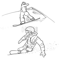 Two Snowboarder lifestyle Scribble Sketches (Hebstreits) Tags: active art background black cartoon design doodle drawing drawn fun hand human illustration isolated jumping lifestyle line man note paper people person scribble season sketch snow snowboard snowboarder sport vector white winter young