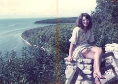 Posing at a scenic turnout (GentleLady1965) Tags: stocking striptease display gentlelady1965 garterbelt lingerie flashing exhibitionist voyeur
