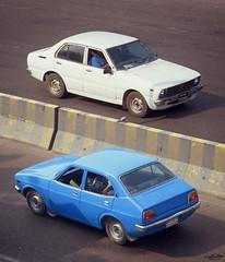 Cars of the 70s, Bangladesh. (Samee55) Tags: bangladesh dhaka carspotting 2017 classiccars carsofthe70s corolla ke30 publicastarlet compositeimge gimp