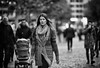 (graveur8x) Tags: woman candid street portrait frankfurt germany deutschland streetphotography strase dof people monochrome schwarzweis blackandwhite bw city look canon canoneos6d canonef135mmf2lusm 135mm ff ffm eyecontact
